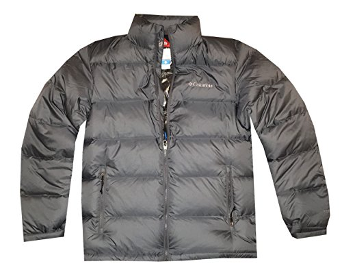 Columbia Men Big Bend Omni-Heat Double Thermal Reflective Down Jacket (XL, Grey)
