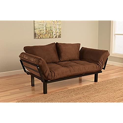 Best Futon Lounger Sit Lounge Sleep Smaller Size Furniture is Perfect for College Dorm Bedroom Studio Apartment Guest Room Covered Patio Porch .
