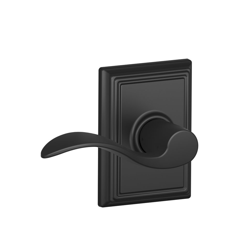 Addison Trim with Accent Hall and Closet Lever, Matte Black (F10 ACC 622 ADD)