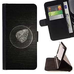 For HTC Desire 820 Case , Minimalista Hoja En Madera- la tarjeta de Crédito Slots PU Funda de cuero Monedero caso cubierta de piel