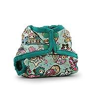 Rumparooz Newborn Cloth Diaper Cover Snap, tokiTreats - Peacock