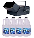 Chauvet DJ B550 Bubble King High Output Bubble Machine + 4) BJU Bubble Fluids