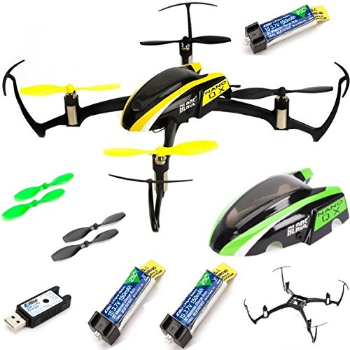 Blade BLH7680 Nano QX BNF QuadCopter w 3X Lipo Battery + Crash Kit Combo 1