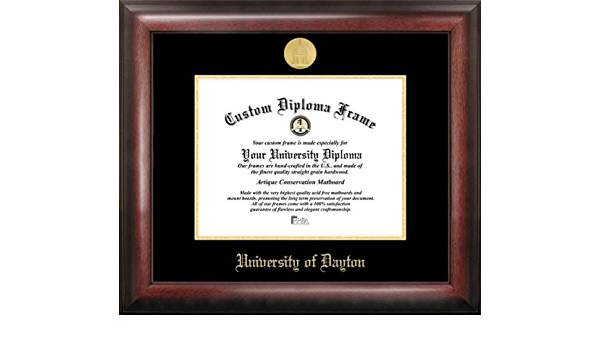 Campus Images University Of Dayton Gold Embossed Diploma Frame Sports Fan Diploma Frames Sports Outdoors