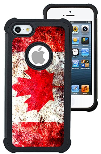 CorpCase iPhone 5 Case / iPhone 5S Case / iPhone SE Case - Canada canadian flag grunge distressed/ Hybrid Unique Case With Great Protection