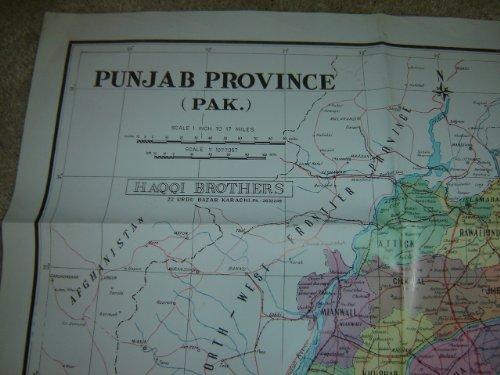 Map of Punjab Province - Pakistan / Scale: 1:1077067