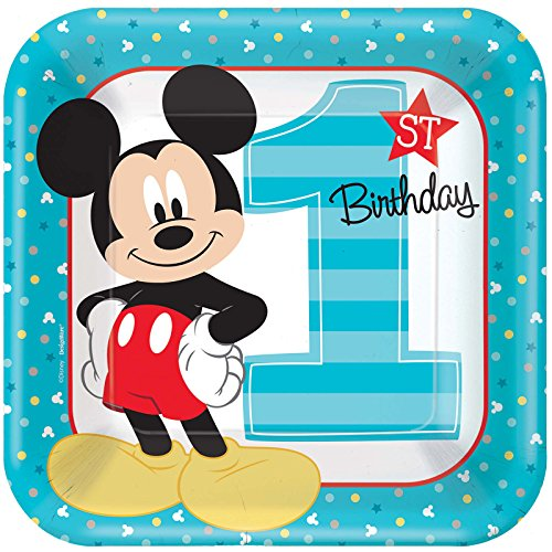 Mickey Mouse 1st Birthday Party Supplies 24 Pack Lunch Plates]()