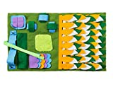 IFOYO Dog Feeding Mat, Dog Snuffle Mat Small Dog Training Pad Pet Nose Work Blanket Non Slip Pet Activity Mat for Foraging Skill, Stress Release, (S, Green, 17.7x19.7in / 45x50cm), Ideal for Dogs
