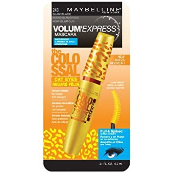 acc2b00b360 Image Unavailable. Image not available for. Color: Maybelline Volum' Express  Colossal Cat Eyes Waterproof Mascara, Glam Black [241]
