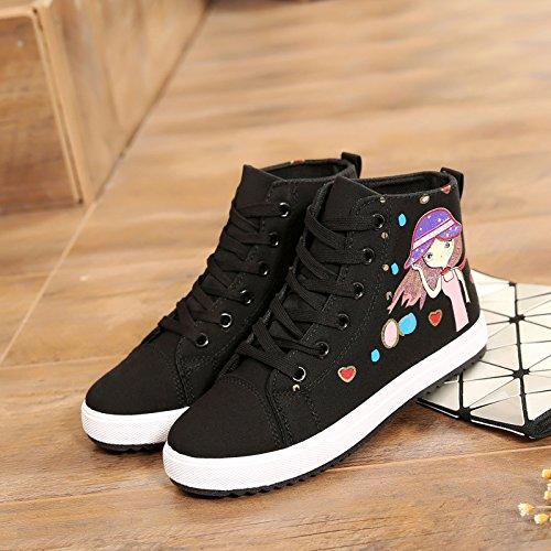 negro GTVERNH de tudent Zapatillas Zapatos Zapatos Deportes Primavera Zapatos de Verano mujer individuales Casual Lona Individuales Festival Mujer rprwq