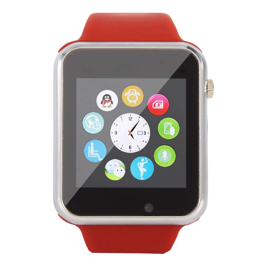 KOROWA Bluetooth Smart Watch for Android Message Phone Call Mobile Phone Step Counting Sport Intelligent Wrist Watchred