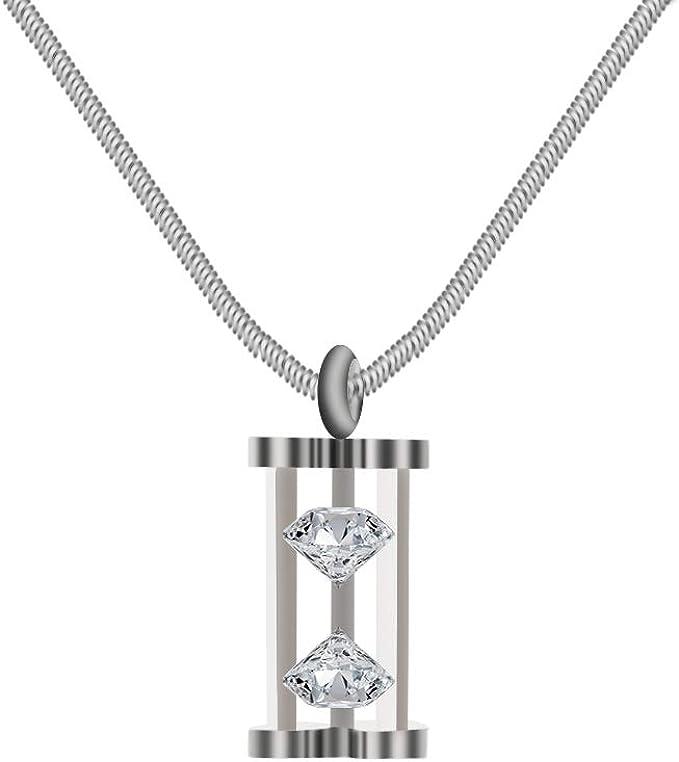 Amazon.com: 38 Elegante collar de acero inoxidable con ...