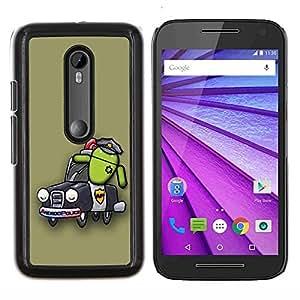 Jordan Colourful Shop - Design Android Police For Motorola Moto G (3rd Gen 2015) Personalizado negro cubierta de la caja de pl????stico