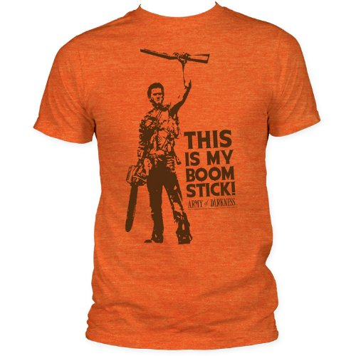 Impact Men's Army Of Darkness This Is My Boomstick T-Shirt, Heather Orange, Large