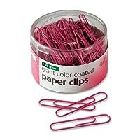 Clips de papel recubiertos, de color gigante, libres de PVC, para el conocimiento del cáncer de mama, bañera 80per, color rosa (08908)