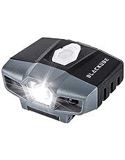 Blackube Rechargeable Cap Light,Potlight Floodlight,LED Sensor Clip on Hat Light Portable Baseball Caps Bright- Lightweight(0.88oz) Mini,Hands Free for Hunting Fishing Running Camping