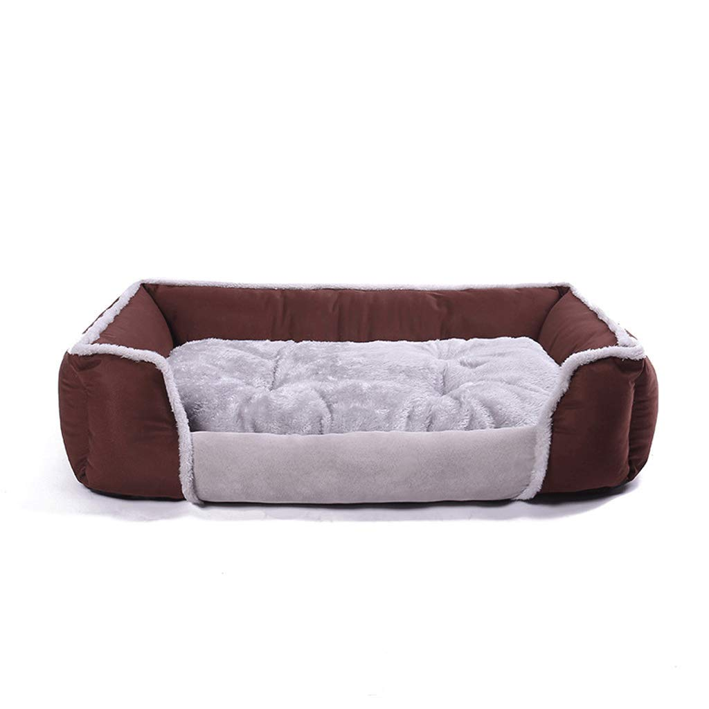 BROWN S BROWN S LJM- Pet Dog Bed   Sofa-Style Couch Pet Bed for Dogs & Cats Styles (color   Brown, Size   S)