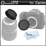 Rear Lens Cap and Camera Body Cover Cap for CANON Rebel Canon EOS 5D Mark III, EOS-1D X, EOS 6D, EOS 7D, EOS 60D, EOS 70D, T5i, T4i, SL1, T3i, T3, EOS M, Canon EOS 7D Mark II DSLR, (CANON EOS 600D)