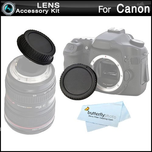 Rear Lens Cap and Camera Body Cover Cap for CANON Rebel Canon EOS 5D Mark III, EOS-1D X, EOS 6D, EOS 7D, EOS 60D, EOS 70D, T5i, T4i, SL1, T3i, T3, EOS M, Canon EOS 7D Mark II DSLR, (CANON EOS 600D)
