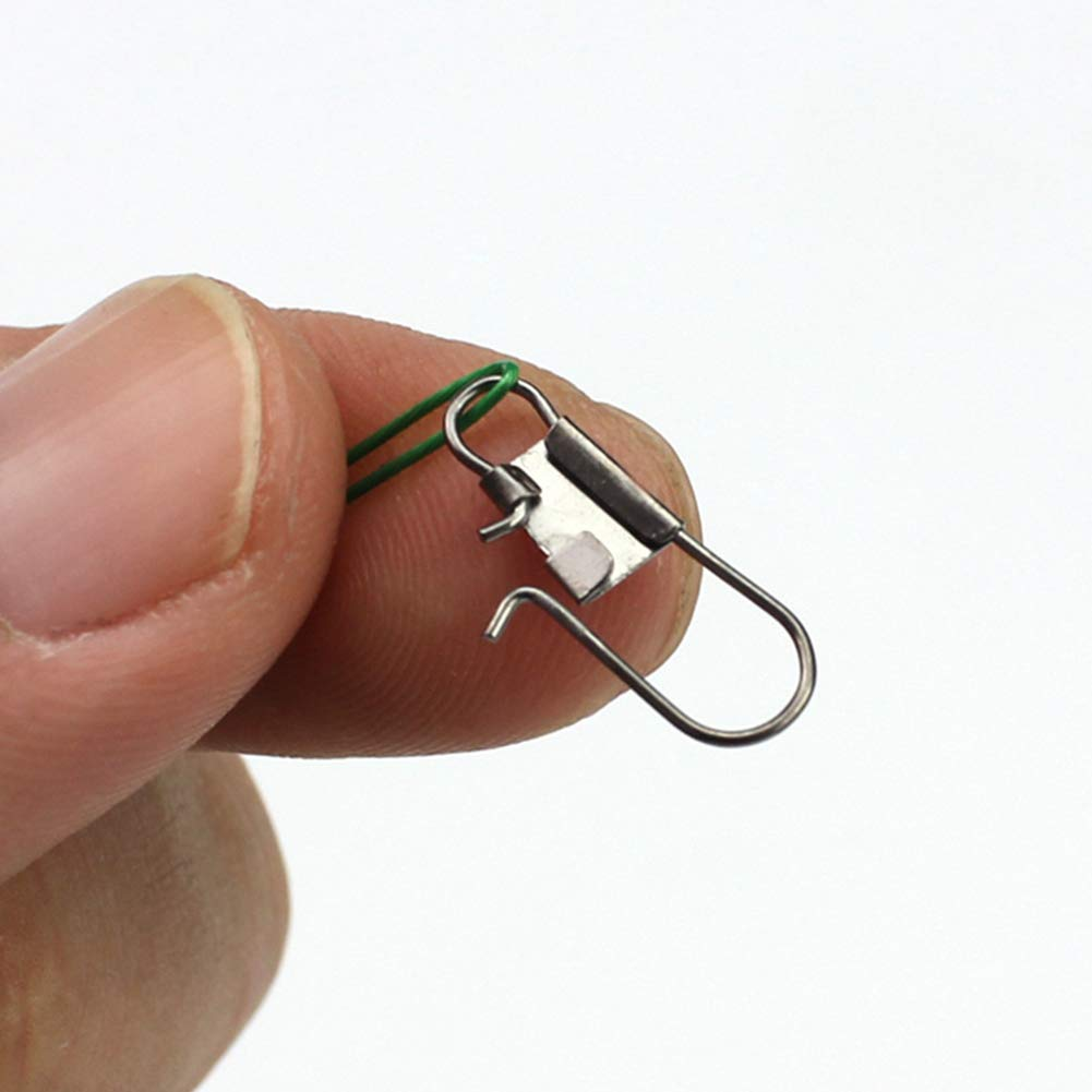 Fishing Wire Leader 100Pcs Steel No Tangle Fishing Wire Leaders Fishing Rig Wire Trace Lure Leaders