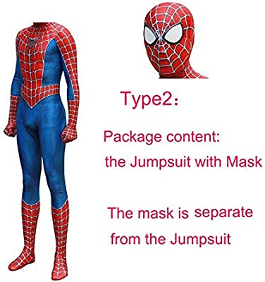 JUFENG Raimi Spiderman Kostuum Disfraz Impresión 3D Traje De ...