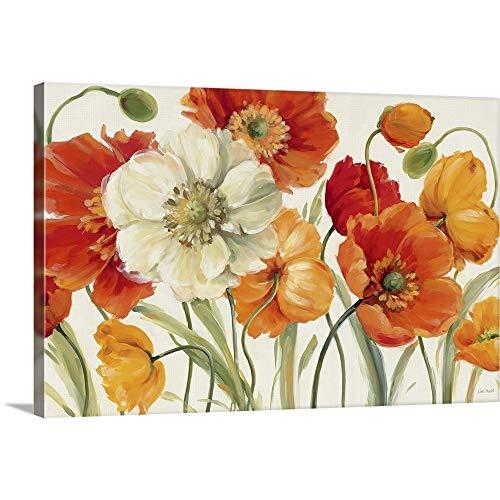 Poppies Melody I Canvas Wall Art Print, 48 x32 x1.25