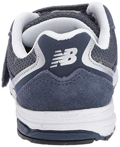 New Balance Boys' 888v2 Hook and Loop Running Shoe, Navy/Grey, 2 M US Infant by New Balance (Image #2)