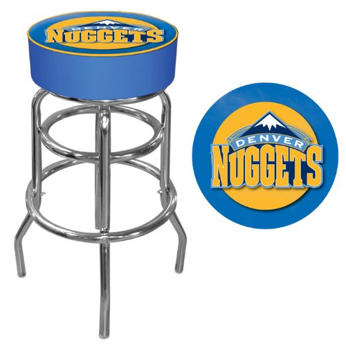 Trademark Gameroom NBA Denver Nuggets Padded Swivel Bar Stool by Trademark Gameroom