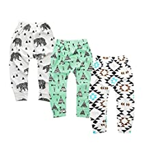 Kids Tales Unisex Newborn Toddler Baby 3 Pack Trouser Tapered Ankle Pants