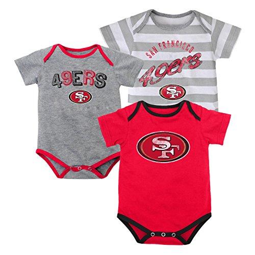 NFL Infant Field Goal 3Pc Bodysuit Set - San Francisco 49ers - 18M