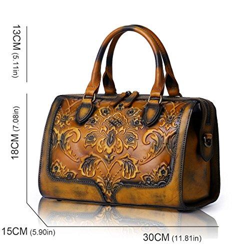 Handbags Bags Ladies Bag and Shoulder Satchel Designer Womens APHISON Brown Tote Purses xf7wqtqv