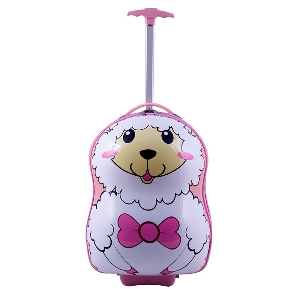 SMJM 12 Inch ABS Hard Side Cartoon Kid's Luggage with Wheels for Girls and Boys