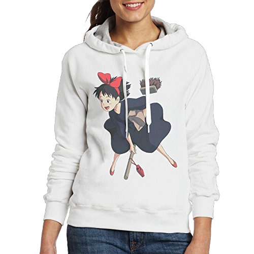 [Kiki's Delivery Service Women's Fleece Sweatshirt S White] (Wall E Costume Disney)