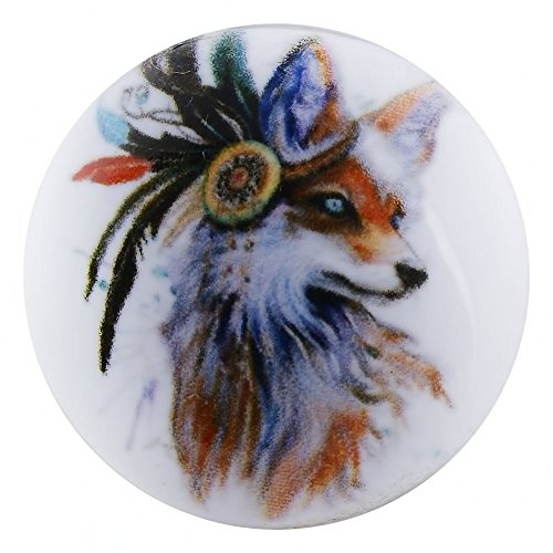 Lovmoment New Snap 20MM Fox Painting Enamel Interchangeable Jewelry Snap Charms