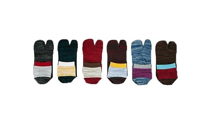 d5e03f22a44 Wookki Lot De 6 Paires Chaussette Basse De Fantaisie Homme Jeune Garçons  Socquette Printemps Eté A