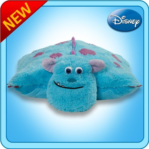 Pillow Pets Authentic Disney 18 Sulley, Folding Plush Pillow- Large Color: Sulley Toy, Kids, Play, Children image