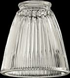 Quorum 2531, Clear Ribbed Bell Glass