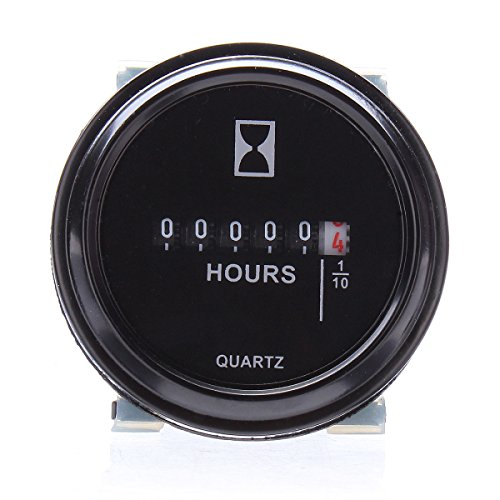 ILS –  Round Hour Meter for Cart Boat Tractor Generador Engine Mower 10 –  80 V I LOVE SHOPPING