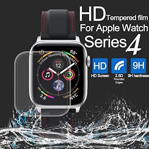 Lywey Clearance Full Coverage Tempered Glass Screen Protector Film for Apple Watch Series 4 44mm