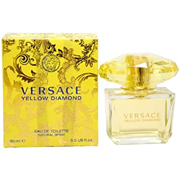 Versace Eau De Toilette Spray for Women, Yellow Diamond, 3 Ounce