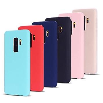 Leton 6X Funda para Samsung Galaxy S9 Plus, Carcasa Samsung S9 Plus Silicona Ultrafina Case Suave Flexible TPU Funda S9 Plus Samsung Ultra Delgado ...