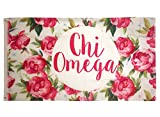 chi omega flag - Chi Omega Rose Pattern Letter Sorority Flag Greek Letter Use as a Banner 3 x 5 Feet chi o