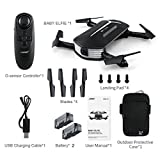 Dreamyth JJRC H37 BABY ELFIE RC Quadcopter Headless Mode 4CH Drone Selfie Toys 2 Battery Affordable (Black)