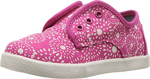 TOMS Kids Baby Girl's Paseo Sneaker (Infant/Toddler/Little Kid) Fuchsia Shibori Dots Oxford (Shibori Dots)