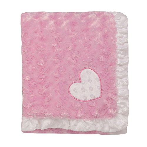 Trim Swirl (Baby Starters 2-Ply Swirl Textured Plush Blanket with Applique and Ruffle Trim)