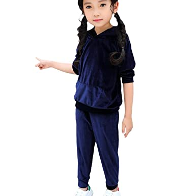 5dbf7ed7b4ff Voberry for 1-5 Years Old Kids, Cute Kids Boys Girls Long Sleeve Hooded Warm  Winter Fashion Hoodie Sweatshirt Children Kids Tops+Pants: Amazon.co.uk: ...