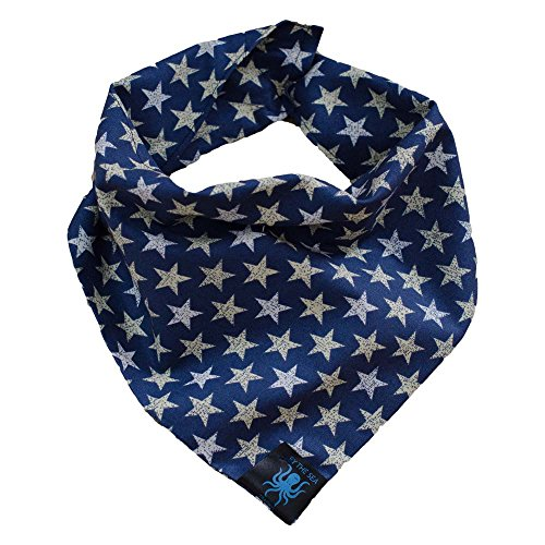 Over The Collar Dog Bandana (Atticus Blue)