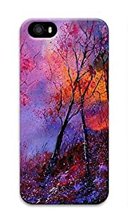 Artsy 3D Hard Plastic Case Shell for iPhone 5 5S Covered by Art Tree Painting