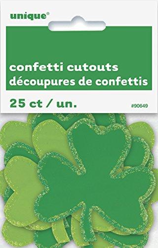 Paper Confetti Cutout Shamrock Saint Patrick's Day Decorations, -