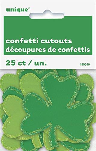 Shamrock Cut Out Decoration - Paper Confetti Cutout Shamrock Saint Patrick's Day Decorations, 25ct